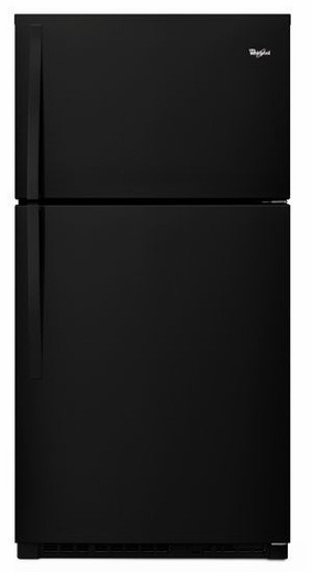 "WRT541SZDB Whirlpool 33"" Top-Freezer Refrigerator - Black"