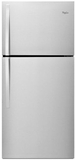 "WRT549SZDM Whirlpool 30"" Wide Top-Freezer Refrigerator with LED Interior Lighting - Monochromatic Stainless Steel"