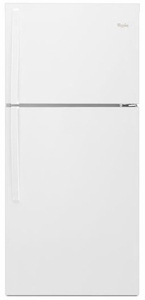 "WRT549SZDW Whirlpool 30"" Wide Top-Freezer Refrigerator with LED Interior Lighting - White"