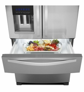 WRX735SDBM Whirlpool 25 cu. ft. French Door Refrigerator with External Refrigerated Drawer - Monochromatic Stainless Steel