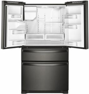 "WRX735SDHV Whirlpool 36"" 25 Cu. Ft. French Door Refrigerator with Accu-Chill and EveryDrop Filtration - Black Stainless Steel"