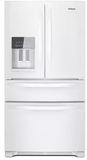 "WRX735SDHW Whirlpool 36"" 25 Cu. Ft. French Door Refrigerator with Accu-Chill and EveryDrop Filtration - White"