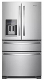"WRX735SDHZ Whirlpool 36"" 25 Cu. Ft. French Door Refrigerator with Accu-Chill and EveryDrop Filtration - Fingerprint Resistant Stainless Steel"