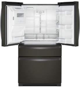 """WRX986SIHV Whirlpool 36"""" 26.2 cu. ft.  French Door Refrigerator with Panoramic LED Lighting and Dual Cooling - Black Stainless Steel"""