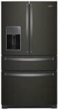 "WRX986SIHV Whirlpool 36"" 26.2 cu. ft.  French Door Refrigerator with Panoramic LED Lighting and Dual Cooling - Black Stainless Steel"
