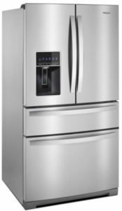 "WRX986SIHZ Whirlpool 36"" 26.2 cu. ft.  French Door Refrigerator with Panoramic LED Lighting and Dual Cooling - Fingerprint Resistant Stainless Steel"