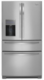WRX988SIBM Whirlpool 26 cu. ft. 4-Door French Door Refrigerator with the Most Flexible Storage - Monochromatic Stainless Steel
