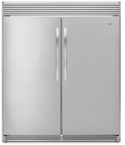 "WSZ57L18DM Whirlpool 30"" Built-in 18 cu. ft. SideKicks All-Freezer with Fast Freeze - Stainless Steel"