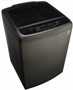"WT1901CK LG 27"" 5.0 cu. ft. Mega Capacity Top Load Washer with TurboWash and Front Controls - Black Stainless Steel"