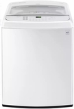 "WT1901CW LG 27"" 5.0 cu. ft. Mega Capacity Top Load Washer with TurboWash and Front Controls - White"
