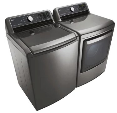 "WT7200CV LG 27"" 5.0 cu. ft. Mega Capacity Top Load Washer with TrueBalance Plus and StainCare - Graphite Steel"