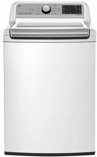"WT7200CW LG 27"" 5.0 cu. ft. Mega Capacity Top Load Washer with TrueBalance Plus and StainCare - White"