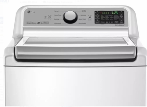 """WT7200CW LG 27"""" 5.0 cu. ft. Mega Capacity Top Load Washer with TrueBalance Plus and StainCare - White"""