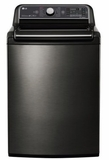 """WT7600HKA LG 27"""" 5.2 cu. ft. Mega Capacity Top Load Washer with Steam Technology and SenseClean System - Black Stainless Steel"""