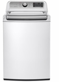 "WT7600HWA LG 27"" 5.2 cu. ft. Mega Capacity Top Load Washer with Steam Technology and SenseClean System - White"