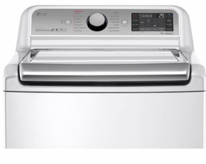 """WT7600HWA LG 27"""" 5.2 cu. ft. Mega Capacity Top Load Washer with Steam Technology and SenseClean System - White"""