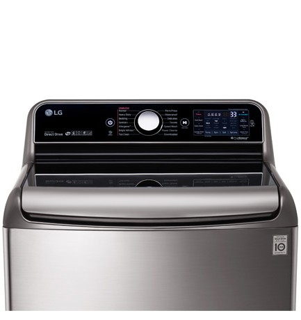 WT7700HVA LG 5.7 Cu. Ft. MEGA Capacity Top Load Washer with TurboWash Technology - Graphite Steel