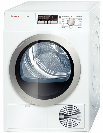 "WTB86201UC Bosch Axxis 4.0 Cu Ft Electric 24"" Compact Ventless / Condensation Dryer - White"