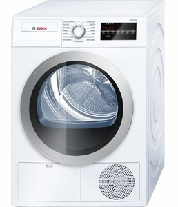 "WTG86401UC Bosch 500 Series  24"" Compact Condensation Dryer - White"