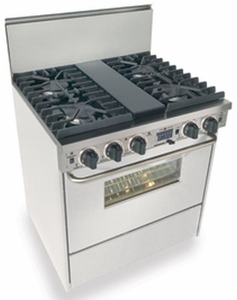 "WTN287-7W Five Star 30"" Pro Style Dual-Fuel Self-Cleaning Convection Range with Sealed Burners - Natural Gas - White"