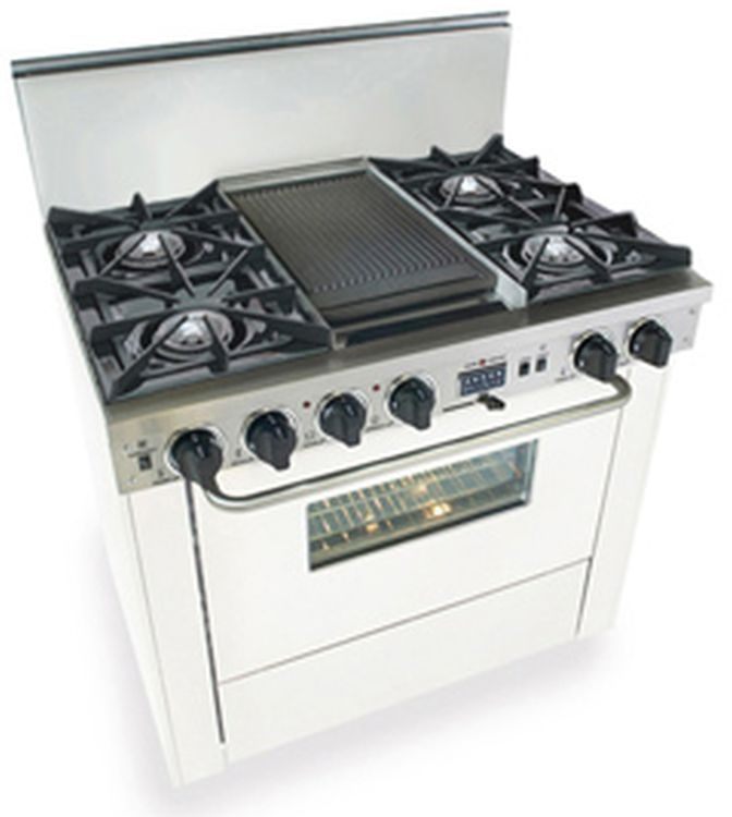 White Double Oven Gas Range at US Appliance