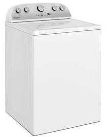 "WTW4950HW Whirlpool 28"" Top Load  3.9 cu. ft Washer with Water Level Selection and Smooth Impeller - White"