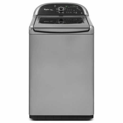 WTW8500BC Whirlpool 4.8 cu. ft. Cabrio Platinum HE Top Load Washer with Greater Capacity - Chrome Shadow
