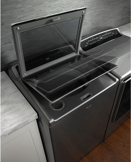 WTW8500DC Whirlpool 5.3 cu. ft. Cabrio High-Efficiency Top Load Washer with Precision Dispense - Chrome