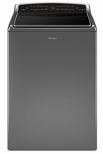 wtw8700ec whirlpool 5 3 cu ft smart cabrio top load washer with laundry app chrome shadow. Black Bedroom Furniture Sets. Home Design Ideas