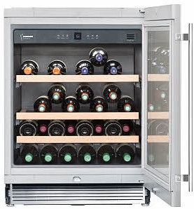 "WU4500 Liebherr 24"" Undercounter One Zone Wine Cabinet - Stainless Steel & Glass Door"