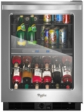 """WUB50X24EM Whirlpool 24"""" Undercounter Beverage Center with Dual Temperature Zones - Stainless Steel"""