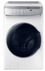 "WV60M9900AW Samsung 27"" 6.0 cu. ft. Capacity Front Load Washer With FlexWash and SteamWash - White"