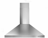 "WVW53UC0FS Whirlpool 30"" Wall Canopy Hood with 400 CFM and 3-Speed Button Control - Stainless Steel"