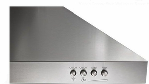 """WVW53UC0FS Whirlpool 30"""" Wall Canopy Hood with 400 CFM and 3-Speed Button Control - Stainless Steel"""