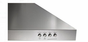 """WVW53UC6FS Whirlpool 36"""" Wall Canopy Hood with 400 CFM and 3-Speed Button Control - Stainless Steel"""