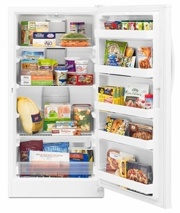 WZF56R16DW Whirlpool 16 cu. ft. Upright Freezer with Frost-Free Defrost - White