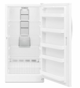 "WZF57R16FW 34"" Whirlpool 16 Cu. Ft. Upright Freezer with 5 Door Bins and Quick Freeze - White"