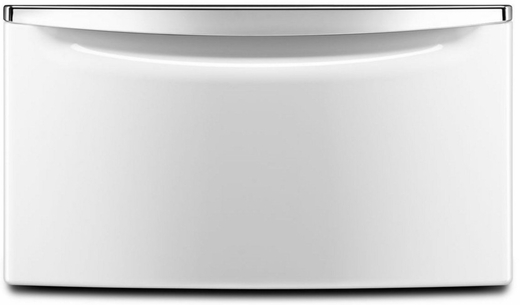 "XHPC155XW Whirlpool 15.5"" Laundry Pedestal with Chrome Handle and Storage Drawer - White"