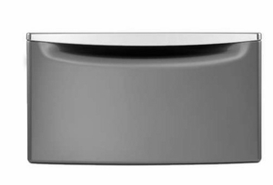 "XHPC155YC Whirlpool 15.5"" Laundry Pedestal with Drawer + Chrome Handle for Slate & Chrome Shadow"