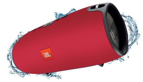 XTREMERED JBL Splashproof Portable Speaker with Bluetooth 4.1 and Dual USB Charging Ports - Red