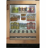 "ZDBI240HII GE Monogram 24"" Beverage Center - Custom Panel"