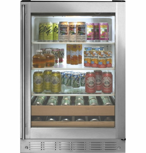 "ZDBR240HBS Monogram 24"" Beverage Center - Stainless Steel"