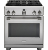 "ZDP304NPSS GE Monogram 30"" Dual-Fuel Pro Style Range with 4 Burners - Natural Gas - Stainless Steel"