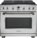 "ZDP366NPSS GE Monogram 36"" Dual-Fuel Pro Style Range with 6 Burners - Natural Gas - Stainless Steel"
