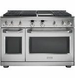 """ZDP484NGPSS Monogram 48"""" Dual-Fuel Pro Style Range with 4 Burners, Grill and Griddle - Natural Gas - Stainless Steel"""