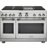 """ZDP486NDPSS Monogram 48"""" Dual-Fuel Pro Style Range with 6 Burners and Griddle - Natural Gas - Stainless Steel"""