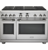 "ZDP486NRPSS GE Monogram 48"" Dual-Fuel Pro Style Range with 6 Burners and Grill - Natural Gas - Stainless Steel"