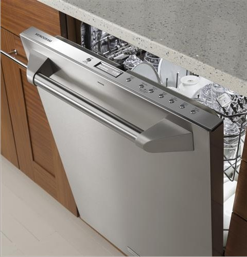 "ZDT915SPJSS Monogram 24"" Fully Integrated Dishwasher with 5 Wash Settings and Hard Food Disposer - Stainless Steel"