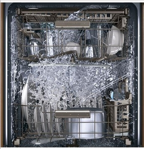"""ZDT975SIJII Monogram 24"""" Fully Integrated Dishwasher with 5 Wash Settings and Hard Food Disposer - Custom Panel"""