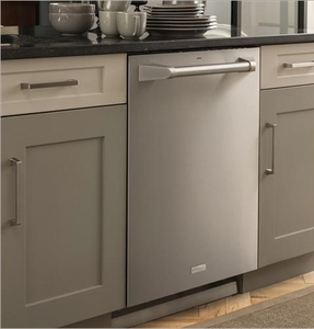 """ZDT975SPJSS Monogram 24"""" Fully Integrated Dishwasher with 5 Wash Settings and Hard Food Disposer - Stainless Steel"""